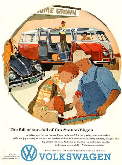 VW Volkswagen Full Of Fun Station Wagon | Vintage Cars 1891-1970