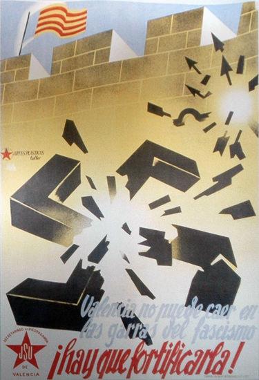 Valencia No Puede Caer En Gorra I Del Fascismo | Vintage War Propaganda Posters 1891-1970