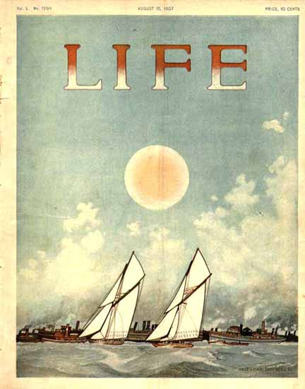 Valentine Sandberg Life Humor Magazine 1907-08-15 Copyright | Life Magazine Graphic Art Covers 1891-1936