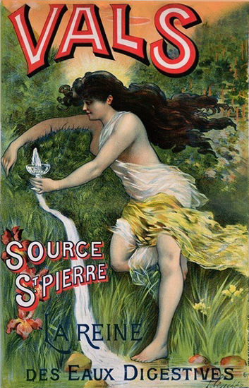Vals Source St Pierre La Reine Eaux Digestives | Sex Appeal Vintage Ads and Covers 1891-1970