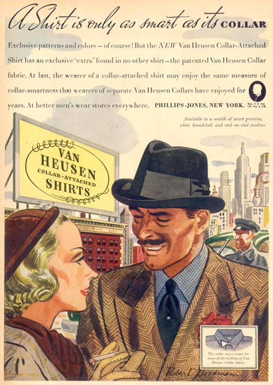 Van Heusen Shirts 1937 | Vintage Ad and Cover Art 1891-1970