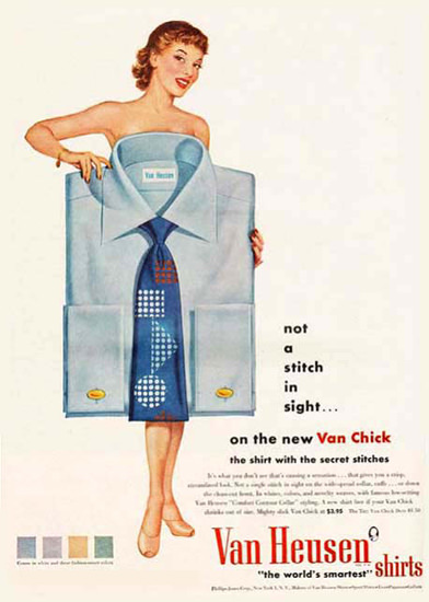 Van Heusen Shirts Nude | Sex Appeal Vintage Ads and Covers 1891-1970
