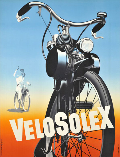 VeloSolex 1950s | Vintage Travel Posters 1891-1970