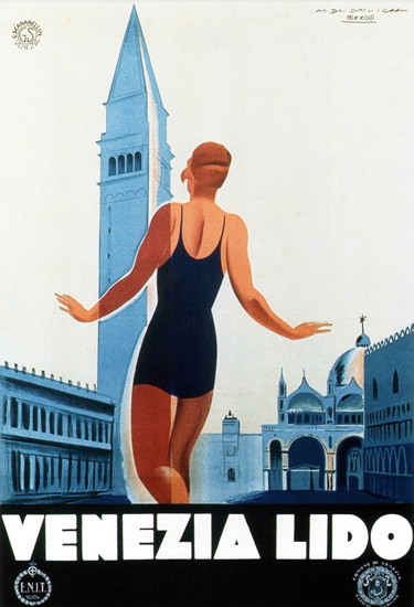 Venezia Lido 1930 Marcello Dudovich M Nizzoli | Sex Appeal Vintage Ads and Covers 1891-1970