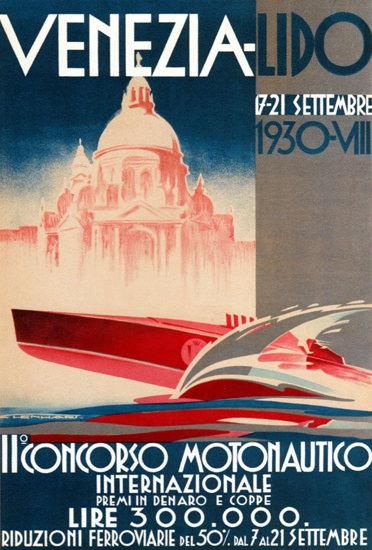 Venezia Lido Il Concorso Motonautico 1930 | Vintage Ad and Cover Art 1891-1970