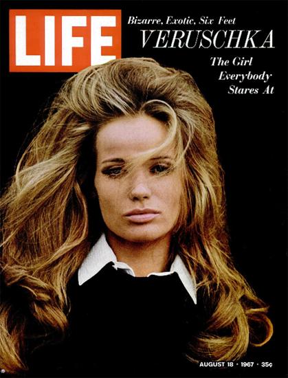 Veruschka von Lehndorff in Blowup 18 Aug 1967 Copyright Life Magazine   Life Magazine Color Photo Covers 1937-1970