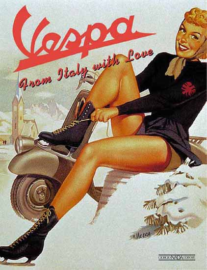 Vespa Ad From Italy with Love Sex Appeal | Sex Appeal Vintage Ads and Covers 1891-1970
