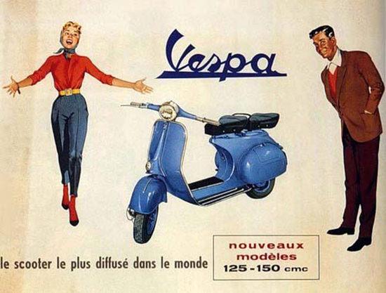 Vespa Le Scooter Nouveaux Modeles   Vintage Travel Posters 1891-1970
