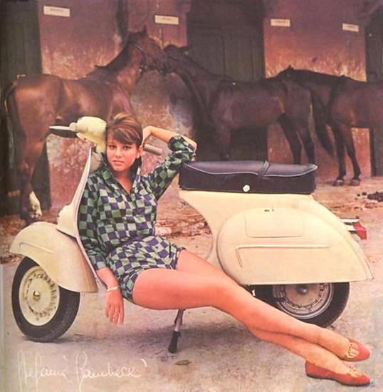 Vespa Stefanie Sandrelli 1964   Sex Appeal Vintage Ads and Covers 1891-1970