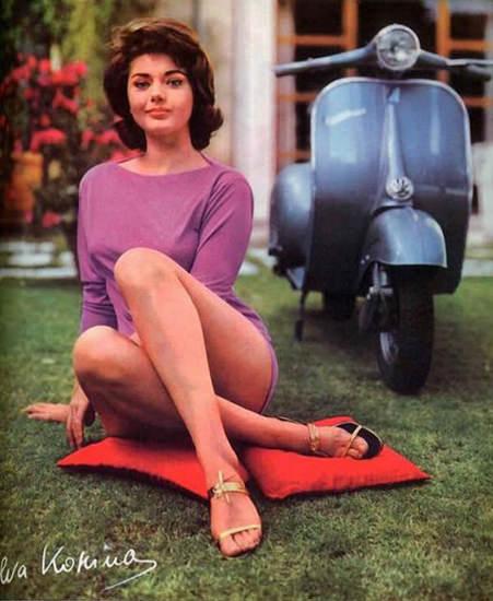 Vespa Sylva Koscina 1962 | Sex Appeal Vintage Ads and Covers 1891-1970