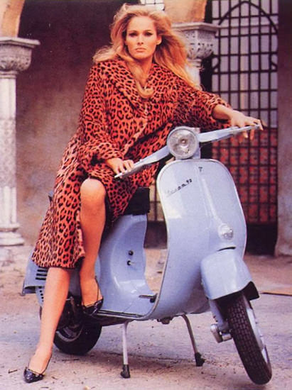 Vespa Ursula Andress 1965 | Sex Appeal Vintage Ads and Covers 1891-1970