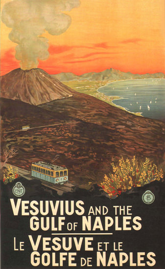 Vesuvius And The Gulf Of Neaples Italy Italia | Vintage Travel Posters 1891-1970