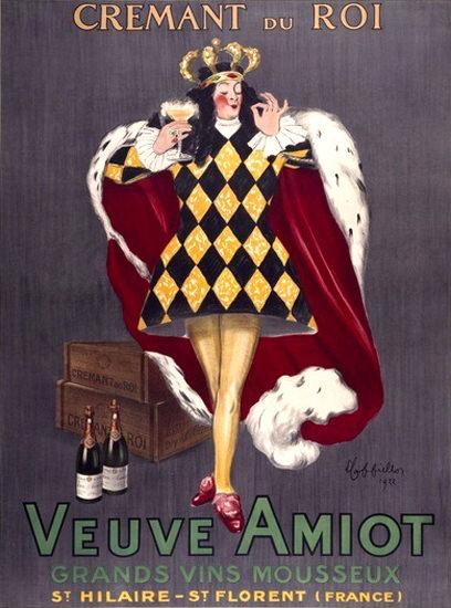 Veuve Amiot Cremant Du Roi St Hilaire St Florent | Vintage Ad and Cover Art 1891-1970