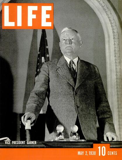 Vice President John Nance Garner 2 May 1938 Copyright Life Magazine | Life Magazine BW Photo Covers 1936-1970