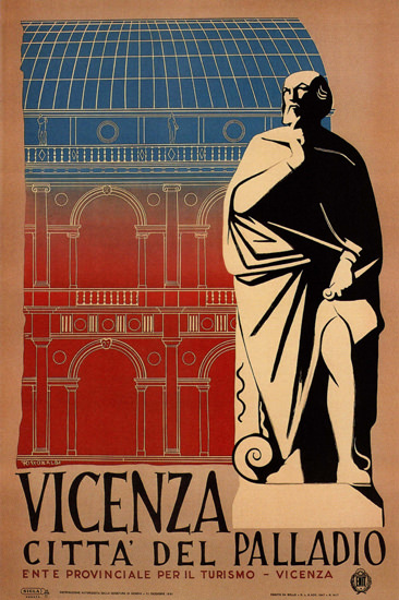 Vicenza Citta Del Palladio Venice Italy Italia | Vintage Travel Posters 1891-1970