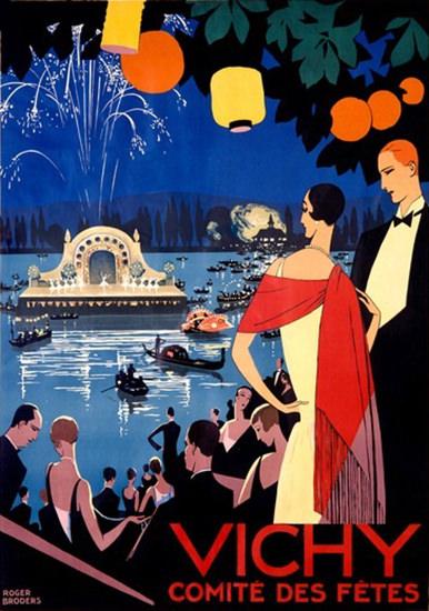 Vichy Comite Des Fetes Festival Paris France | Vintage Travel Posters 1891-1970