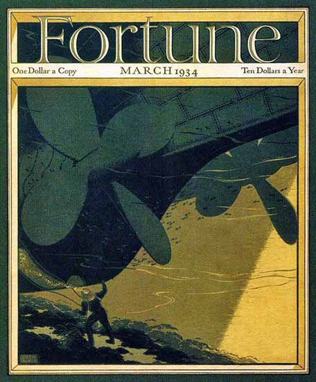 Victor Beals Fortune Magazine March 1934 Copyright | Fortune Magazine Graphic Art Covers 1930-1959