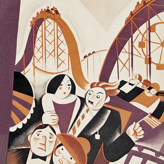Victor Bobritsky The New Yorker 1927_07_02 Copyright crop | Best of Vintage Cover Art 1900-1970