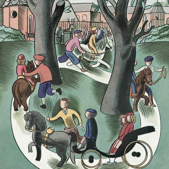 Victor Bobritsky The New Yorker 1937_05_22 Copyright crop | Best of Vintage Cover Art 1900-1970