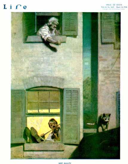 Victor C Anderson Life Humor Magazine 1914-03-12 Copyright | Life Magazine Graphic Art Covers 1891-1936