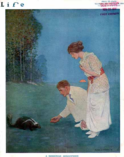 Victor C Anderson Life Humor Magazine 1914-11-26 Copyright   Life Magazine Graphic Art Covers 1891-1936