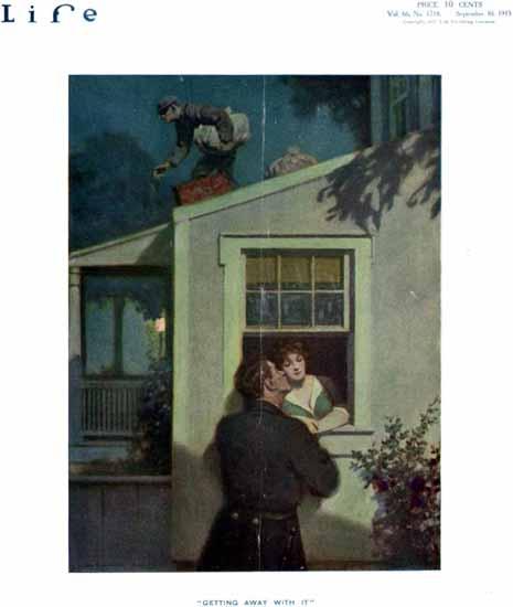 Victor C Anderson Life Humor Magazine 1915-09-30 Copyright | Life Magazine Graphic Art Covers 1891-1936