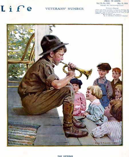Victor C Anderson Life Humor Magazine 1919-05-15 Copyright   Life Magazine Graphic Art Covers 1891-1936