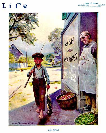 Victor C Anderson Life Humor Magazine 1920-07-08 Copyright | Life Magazine Graphic Art Covers 1891-1936