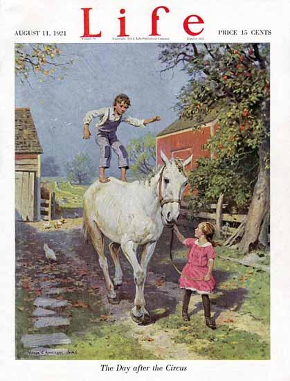 Victor C Anderson Life Humor Magazine 1921-08-11 Copyright | Life Magazine Graphic Art Covers 1891-1936