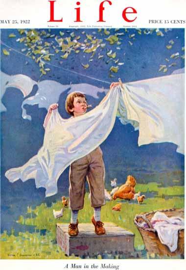 Victor C Anderson Life Humor Magazine 1922-05-25 Copyright   Life Magazine Graphic Art Covers 1891-1936