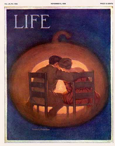 Victor C. Anderson Life Humor Magazine 1908-11-05 Copyright   Life Magazine Graphic Art Covers 1891-1936