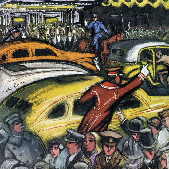 Victor De Pauw The New Yorker 1943_11_20 Copyright crop | Best of Vintage Cover Art 1900-1970