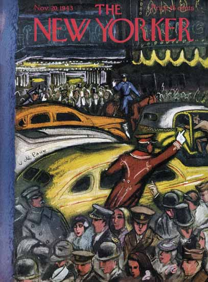Victor De Pauw The New Yorker 1943_11_20 Copyright | The New Yorker Graphic Art Covers 1925-1945