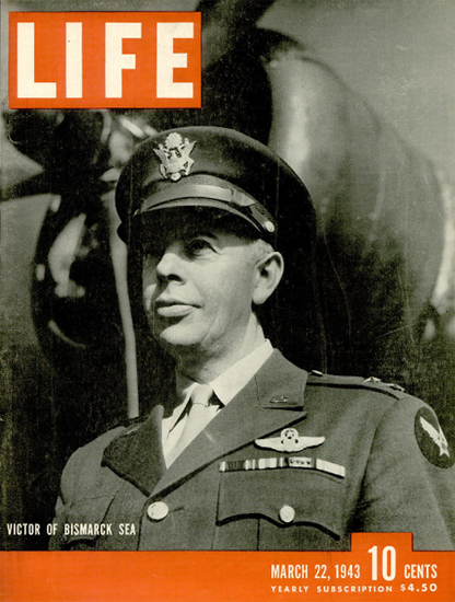 Victor of Bismarck Sea 22 Mar 1943 Copyright Life Magazine   Life Magazine BW Photo Covers 1936-1970
