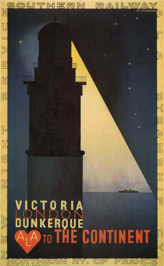 Victoria London Dunkerque To The Continent ALA | Vintage Travel Posters 1891-1970