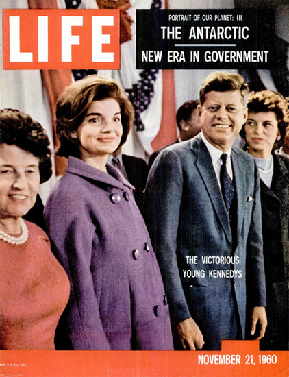Victorious Young Kennedys 21 Nov 1960 Copyright Life Magazine | Life Magazine Color Photo Covers 1937-1970