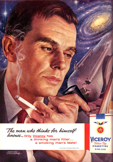 Victory Cigar Space Universe Cigarettes 1959 | Sex Appeal Vintage Ads and Covers 1891-1970