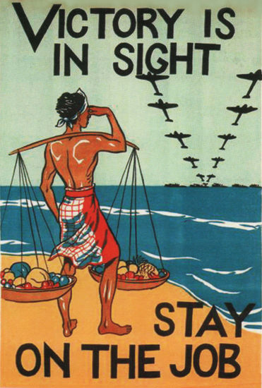 Victory Is In Sight Stay On The Job Ceylon | Vintage War Propaganda Posters 1891-1970