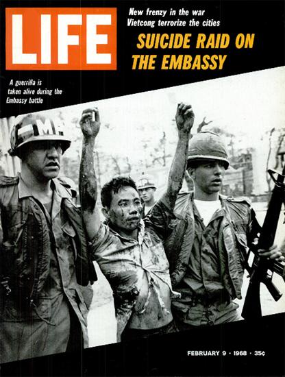 Vietnam 20000 US Soldiers Killed 9 Feb 1968 Copyright Life Magazine   Life Magazine BW Photo Covers 1936-1970
