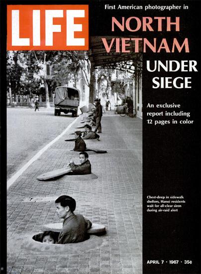 Vietnam Air-Raid Shelters in Hanoi 7 Apr 1967 Copyright Life Magazine | Life Magazine BW Photo Covers 1936-1970