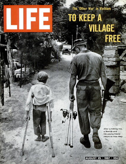 Vietnam Fishing Trip Marine N Boy 25 Aug 1967 Copyright Life Magazine | Life Magazine BW Photo Covers 1936-1970