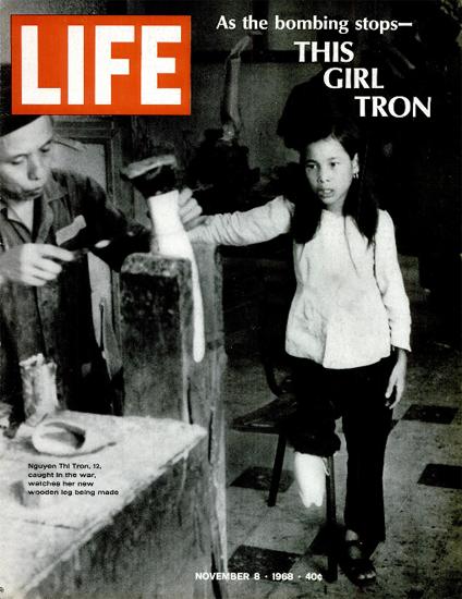Vietnam Thi Tron new wooden Leg 8 Nov 1968 Copyright Life Magazine | Life Magazine BW Photo Covers 1936-1970