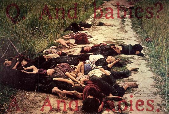 Vietnam War Massacre Babies USA | Vintage War Propaganda Posters 1891-1970