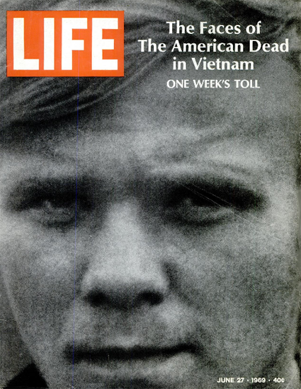 Vietnam Week 242 Deaths Faces 27 Jun 1969 Copyright Life Magazine | Life Magazine BW Photo Covers 1936-1970