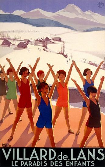 Villard De Lans Le Paradis Des Enfants Paradise | Vintage Travel Posters 1891-1970