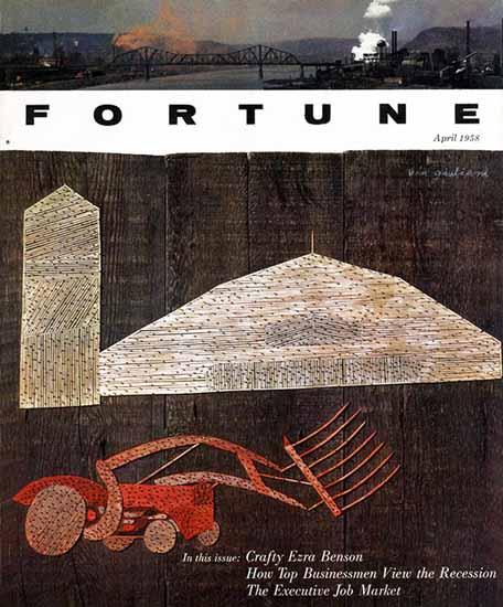Vin Giuliani Fortune Magazine April 1958 Copyright | Fortune Magazine Graphic Art Covers 1930-1959