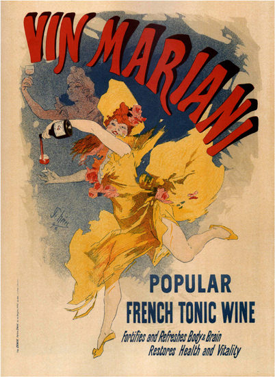 Vin Mariani Popular French Tonic Wine Body Brain | Sex Appeal Vintage Ads and Covers 1891-1970