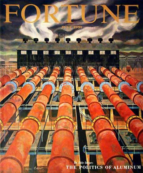 Virginia Cuthbert Fortune Magazine June 1951 Copyright   Fortune Magazine Graphic Art Covers 1930-1959