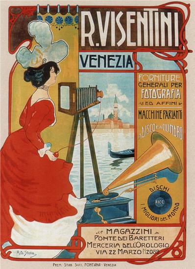 Visentini Venezia Fotografia Italy Italia   Vintage Ad and Cover Art 1891-1970