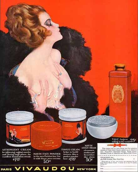 Vivadou Cosmetics Ad Paris New York Sex Appeal | Sex Appeal Vintage Ads and Covers 1891-1970